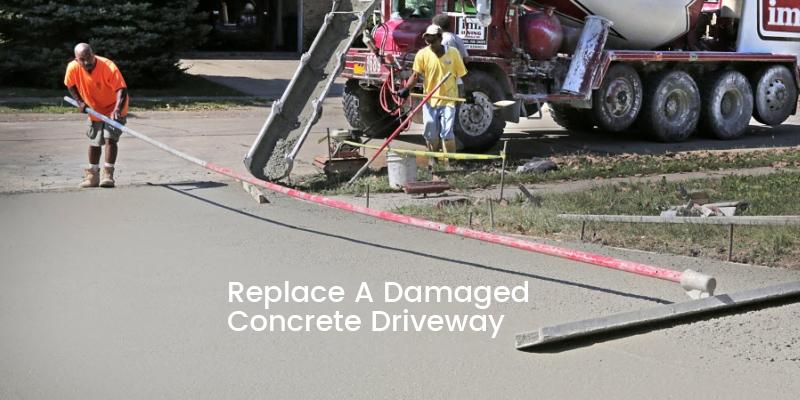 Damaged Concrete Driveway