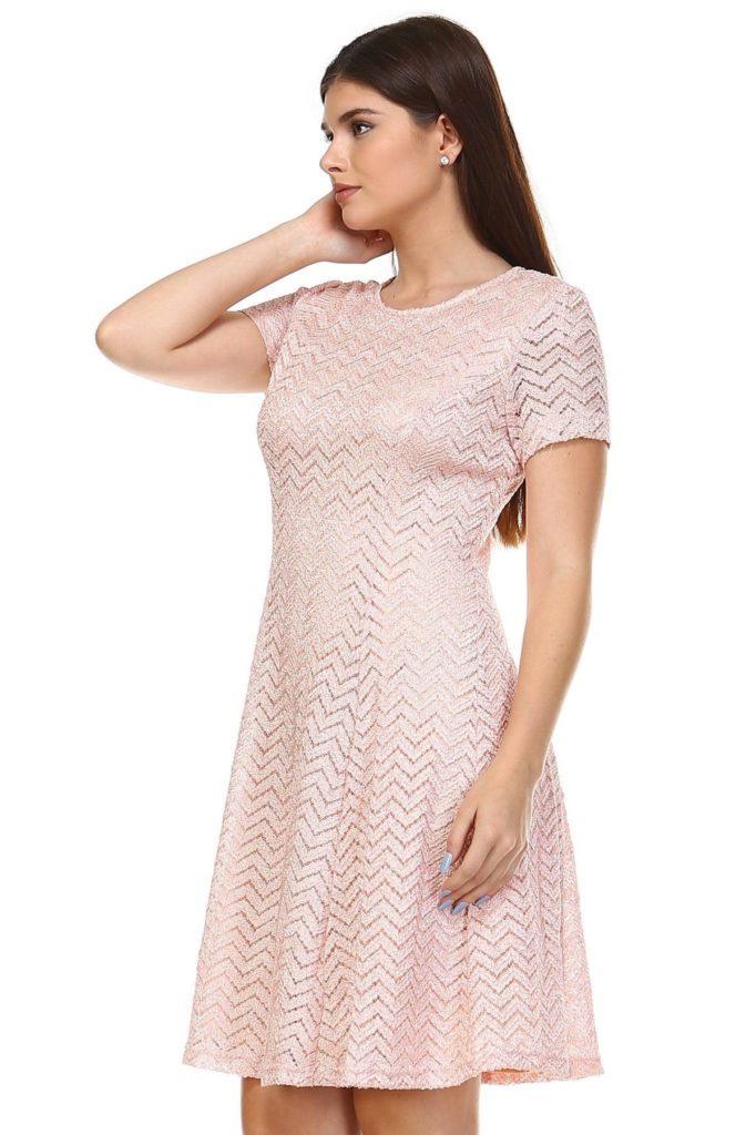 Women's Textured Knit A-Line Dress